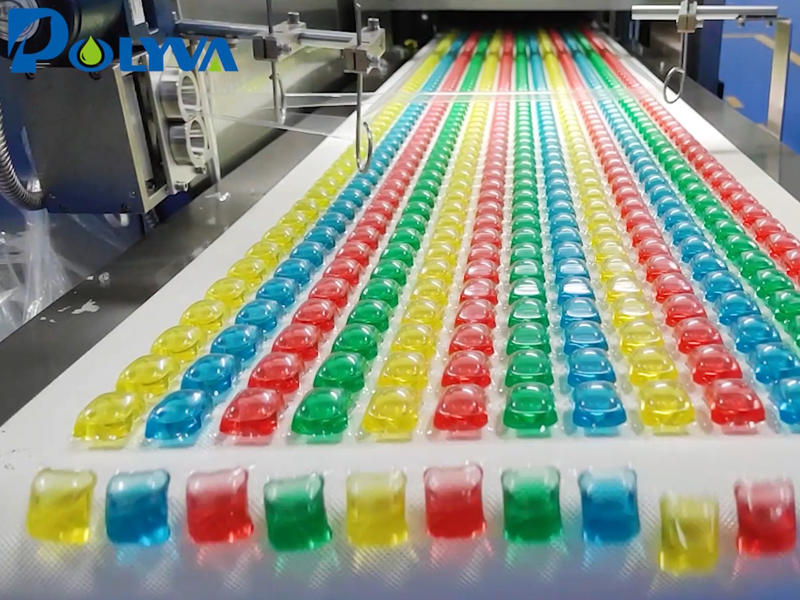 彩虹凝珠包装机设备_2021年洗衣新款泡脚洗衣珠包装设备_高速佛山博维厂家直销